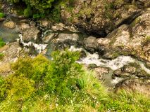 Small waterfall in native bush royalty free stock photo