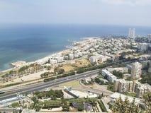 Hayfa - Luftaufnahme Stockbilder