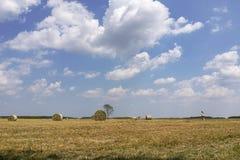 Hayfield in Garching bei München Stock Image