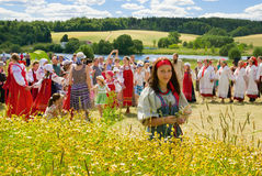 Haying festival in Russia Royalty Free Stock Images