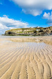 Hayle Towans Beach Cornwall. The beautiful golden sandy beach at Hayle Towans in St Ives Bay Cornwall England UK Europe Royalty Free Stock Photography