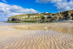 Hayle Towans Beach Cornwall. The beautiful golden sandy beach at Hayle Towans in St Ives Bay Cornwall England UK Europe Stock Image