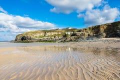 Hayle Towans plaża Cornwall zdjęcie royalty free