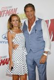 Hayley Roberts and David Hasselhoff royalty free stock photo