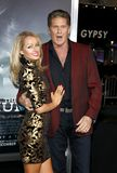 Hayley Roberts en David Hasselhoff royalty-vrije stock foto's