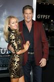 Hayley Roberts et David Hasselhoff images stock