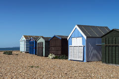 Hayling Island Beach Huts Stock Photography