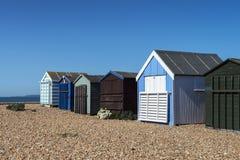 Hayling Island Beach Huts. Beach huts at Hayling Island, Sussex, UK Stock Photography