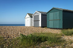 Hayling Island Beach Huts Royalty Free Stock Image