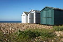 Hayling Island Beach Huts. Beach huts at Hayling Island, Sussex, UK Royalty Free Stock Image
