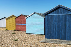 Hayling Island Beach Huts Stock Photos