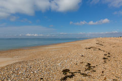 Hayling Island beach near Portsmouth south coast of England UK Stock Image