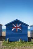 Hayling wyspy plaży budy Zdjęcia Royalty Free
