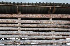 Hayloftvägg från en träolyckskorp 30778 Fotografering för Bildbyråer