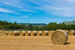 Haymaking в итальянских полях Стоковое фото RF