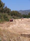 Haymaking en Skala Kalloni Lesvos Grecia Fotos de archivo libres de regalías
