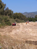 Haymaking at Skala Kalloni Lesvos Greece Royalty Free Stock Photos