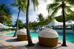 Hayman Island Australia. Tropical Hayman Island Resort in Queensland, Australia Royalty Free Stock Photos