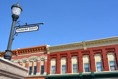 Haymarket District-Council Bluffs, Iowa Royalty Free Stock Images