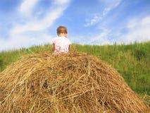 hayrack девушки Стоковые Изображения RF