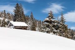 Hayrick в зиме Стоковая Фотография RF