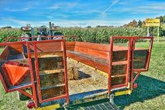 Hayride Wagon HDR. HDR tractor and hayride wagon at a corn maze Royalty Free Stock Photo