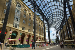 Hays Galleria in London UK. LONDON - MAY 13 2015:Visitors in Hays Galleria. It's a popular tourist attraction complex of offices, restaurants, shops and flats in Stock Image