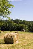 Haystack. In a field in France royalty free stock photos