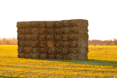 Haystack At Sunset Stock Photography