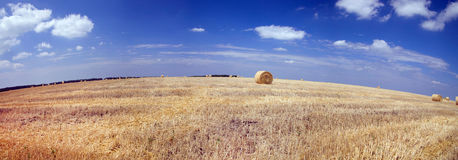 Haystack in blue sky Royalty Free Stock Photo