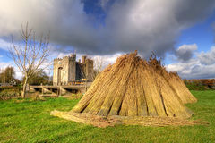 Haystack at Bunratty castle Stock Image
