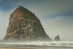 Haystack at Cannon Beach Oregon Royalty Free Stock Photo