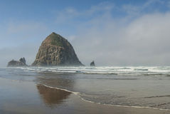 Haystack at Cannon Beach Oregon Royalty Free Stock Images