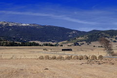 Haystack in capcir, Pyrenees. Languedoc region of france royalty free stock photography