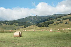 Haystack in capcir, Pyrenees. Languedoc region of france royalty free stock images