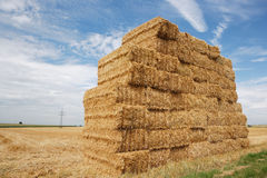 Haystack and cloudscape royalty free stock image