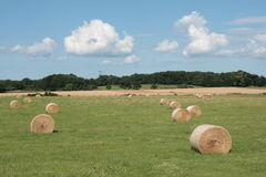 Haystack in countryside, France Royalty Free Stock Photos