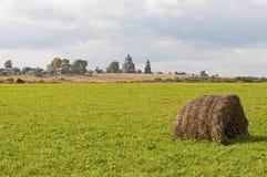 Haystack en el prado Fotografía de archivo libre de regalías