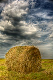 Haystack in  field Stock Image