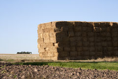 Haystack on the field. Haystack on a ploughed field Royalty Free Stock Images
