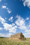 Haystack at field Royalty Free Stock Images