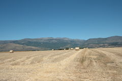 Haystack in french countryside, Pyrenees orientales in France Stock Photo