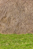 Haystack and grass background Royalty Free Stock Images