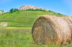 Haystack hay bale Castelluccio di Norcia Monti Sibillini Perugia Stock Photos