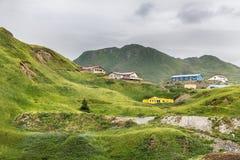 Haystack Hill, Unalaska, Alaska, USA. View of the Haystack Hill, Dutch Harbor, Unalaska, Alaska, USA stock photography