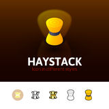 Haystack icon in different style Stock Image