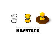 Haystack icon in different style Royalty Free Stock Image