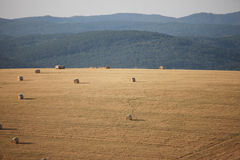 Haystack landscape Stock Photo