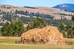 Haystack Made With a Beaverslide Stock Photos