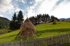 Haystack. In Maramures mountains, late summer Royalty Free Stock Photo